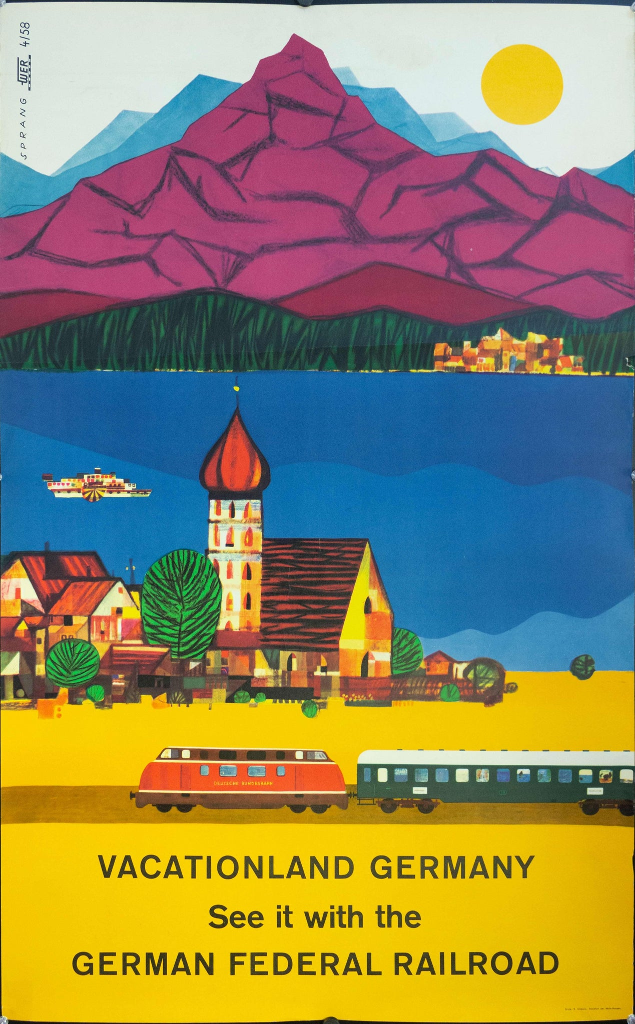 1958 Vacationland Germany | See It With The German Federal Railroad