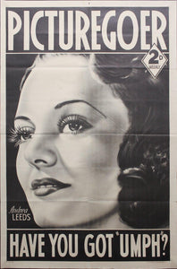 1939 Andrea Leeds Picturegoer Hollywood Movie Magazine Newsstand Poster