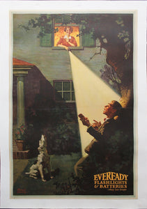 c.1930s Eveready Flashlights and Batteries Advertising by Frederic Stanley