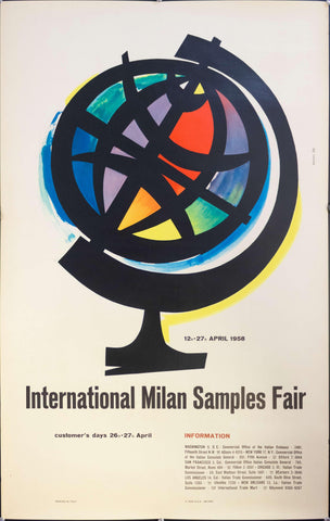 1958 International Milan Samples Fair - Golden Age Posters