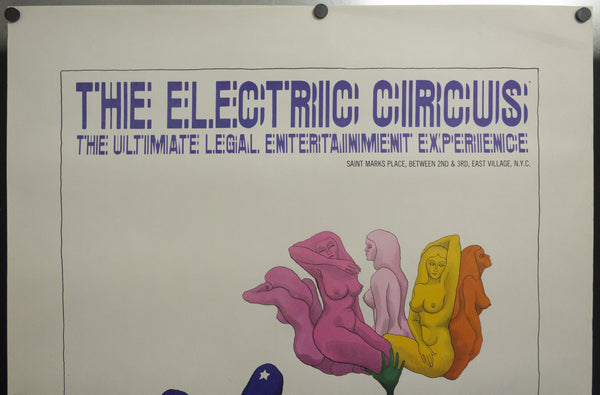 1967 The Electric Circus NYC Disco Nightclub Poster by Jacqui Morgan Psychedelic