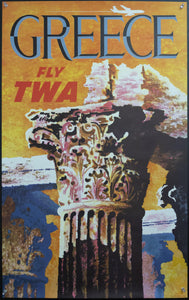 c.1960s Greece Fly TWA Jets Parthenon Column