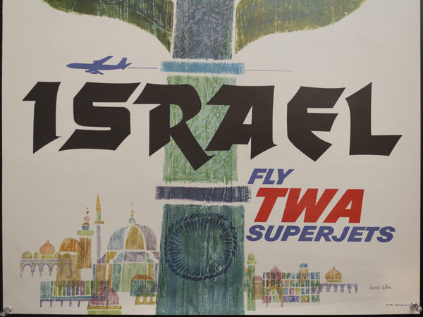 c. 1960 Israel Fly TWA by David Klein - Golden Age Posters