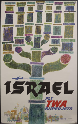 c. 1960 Israel Fly TWA by David Klein