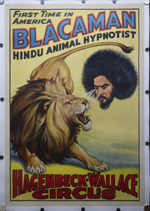 1938 Blacaman Hindu Animal Hypnotist Hagenbeck Wallace