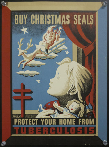 1943 National Tuberculosis Association Christmas Seals by Andre Dugo - Golden Age Posters