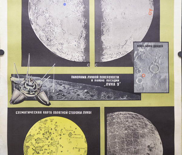 1970 Soviet Union Space Program Educational The Moon Kosmicheskaya - Golden Age Posters