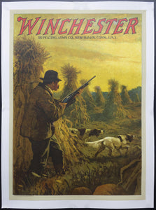 1914 Winchester Repeating Arms Company Calendar Top by N.C. Wyeth