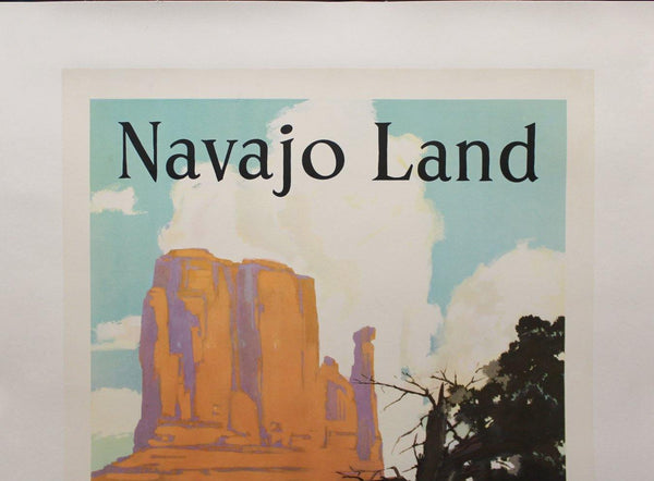 c.1950 Navajo Land Arizona New Mexico Santa Fe Railroad WIllard Elms