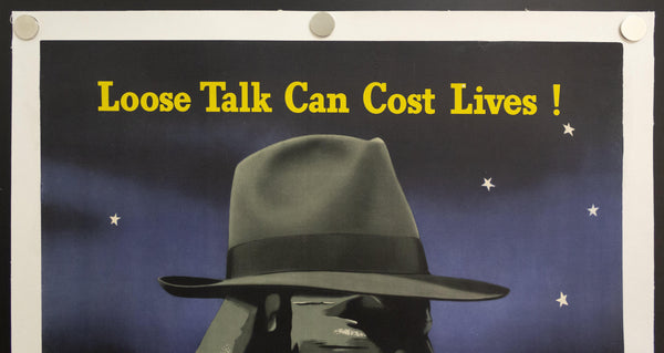 1942 Keep It Under Your Stetson by Edward McKnight Kauffer Loose Talk Can Costs Lives! - Golden Age Posters