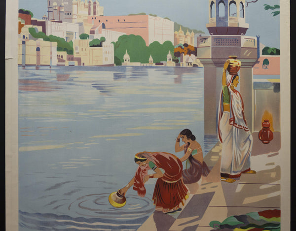 c.1954 Visit India – Udaipur - Golden Age Posters