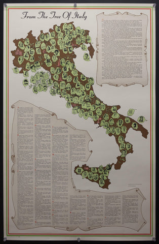 c.1954 From The Tree of Italy Italian Embassy Cultural Division Lucia Autorino Salemme - Golden Age Posters