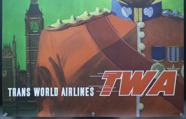 c.1955 TWA London David Klein Lockheed Constellation Trans World Airlines