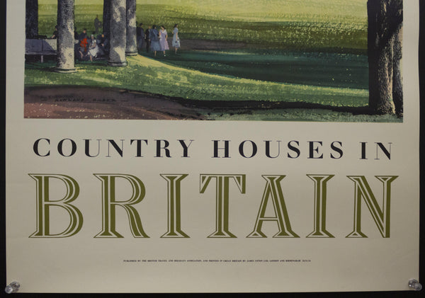 1954 Country Houses by Rowland Hilder British Travel and Holidays Association
