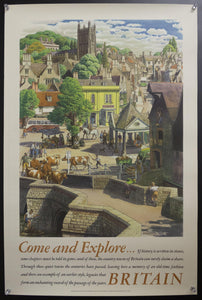 1953 Country Towns by Stanley Roy Badmin British Travel and Holidays Association