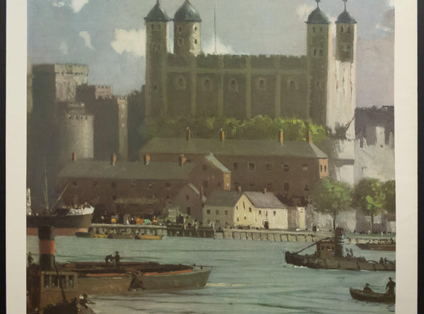 1954 Tower of London by Sir Norman Wilkinson British Travel and Holidays Association