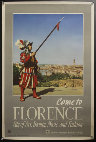 1954 Florence Calling City Art Beauty Music Fashion Italy Azienda Turismo ENIT Italian