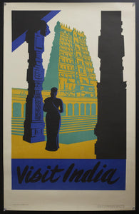 1953 Visit India Indian Ministry of Information & Broadcasting Hindu Temple