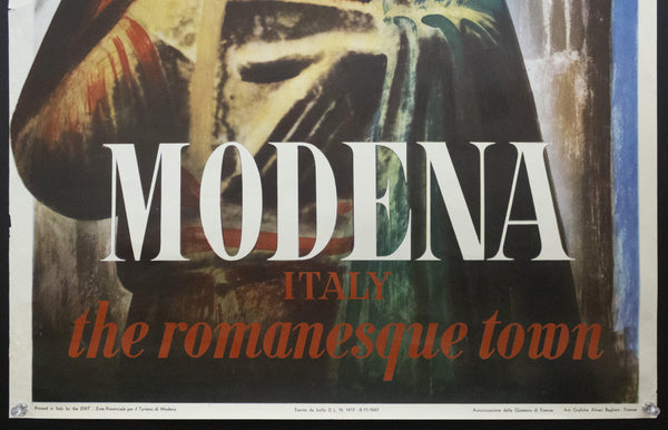 1947 Modena Italy The Romanesque Town by Carlo Mattioli ENIT Italian Travel