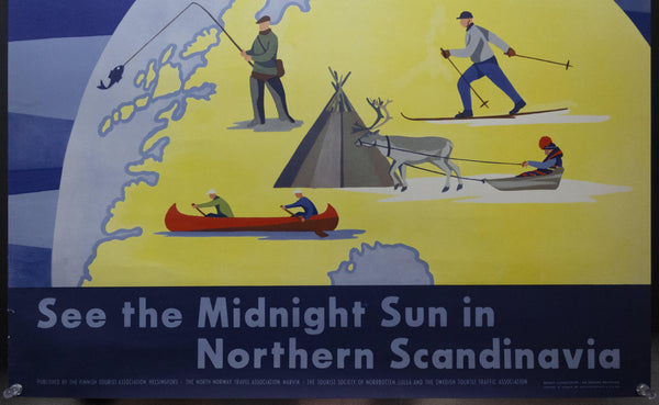 c.1954 Top Of Europe See The Midnight Sun in Northern Scandinavia Sweden Norway Finland
