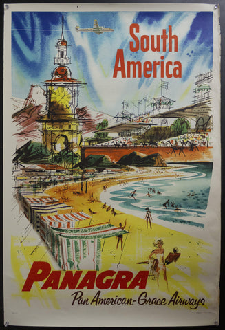 1952 South America Panagra Pan American-Grace Airways by Charles Green Shaw