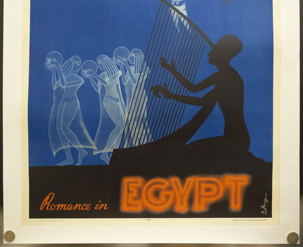 c.1950 Romance in Egypt by M. Amzy Egyptian State Tourist Department Mid-Century - Golden Age Posters
