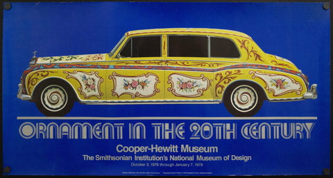1978 Ornament In The 20th Century Cooper Hewitt Museum Exhibit Poster Vintage - Golden Age Posters