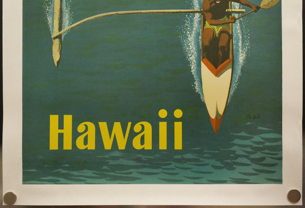 1960 United Air Lines Hawaii by Stan Galli Outrigger Canoe Airlines