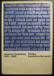 c.1970 Gutenberg Printing Transforms the World Exhibition Hans Peter Hoch - Golden Age Posters