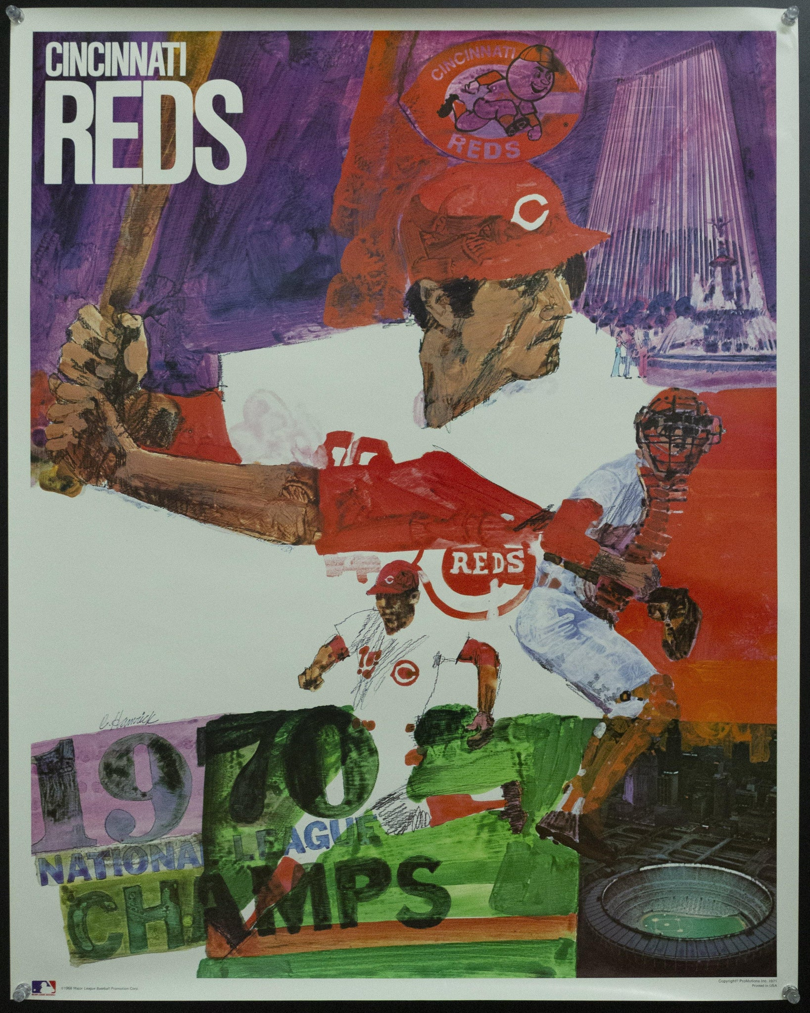 1971 Cincinnati Reds by Chuck Hamrick Major League Baseball MLB 1968