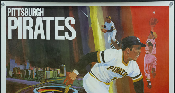 1971 Pittsburgh Pirates Major League Baseball MLB Shallop 1968 Vintage Poster