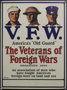 c.1919 VFW America's Old Guard by Edward McCandlish Veterans Foreign Wars