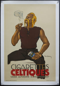 1934 Cigarettes Celtiques by Leon Dupin French Tobacco Advertising