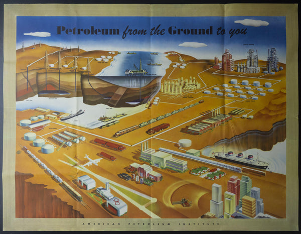 1956 American Petroleum Institute Petroleum From The Ground To You Musacchia