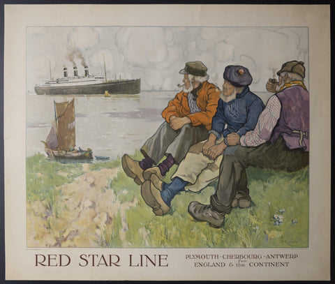 c.1925 Red Star Line For England & The Continent Henri Cassiers