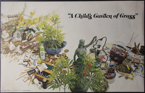 1971 A Child's Garden of Grass Jack S Margolis Record Store Poster Marijuana - Golden Age Posters