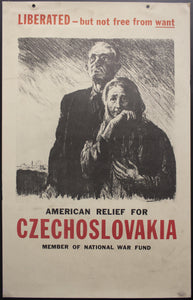 c.1945 American Relief For Czechoslovakia National War Fund