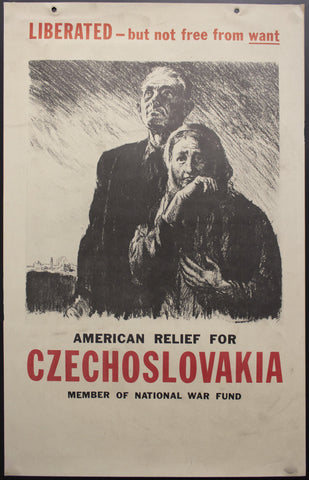 c.1945 American Relief For Czechoslovakia National War Fund - Golden Age Posters