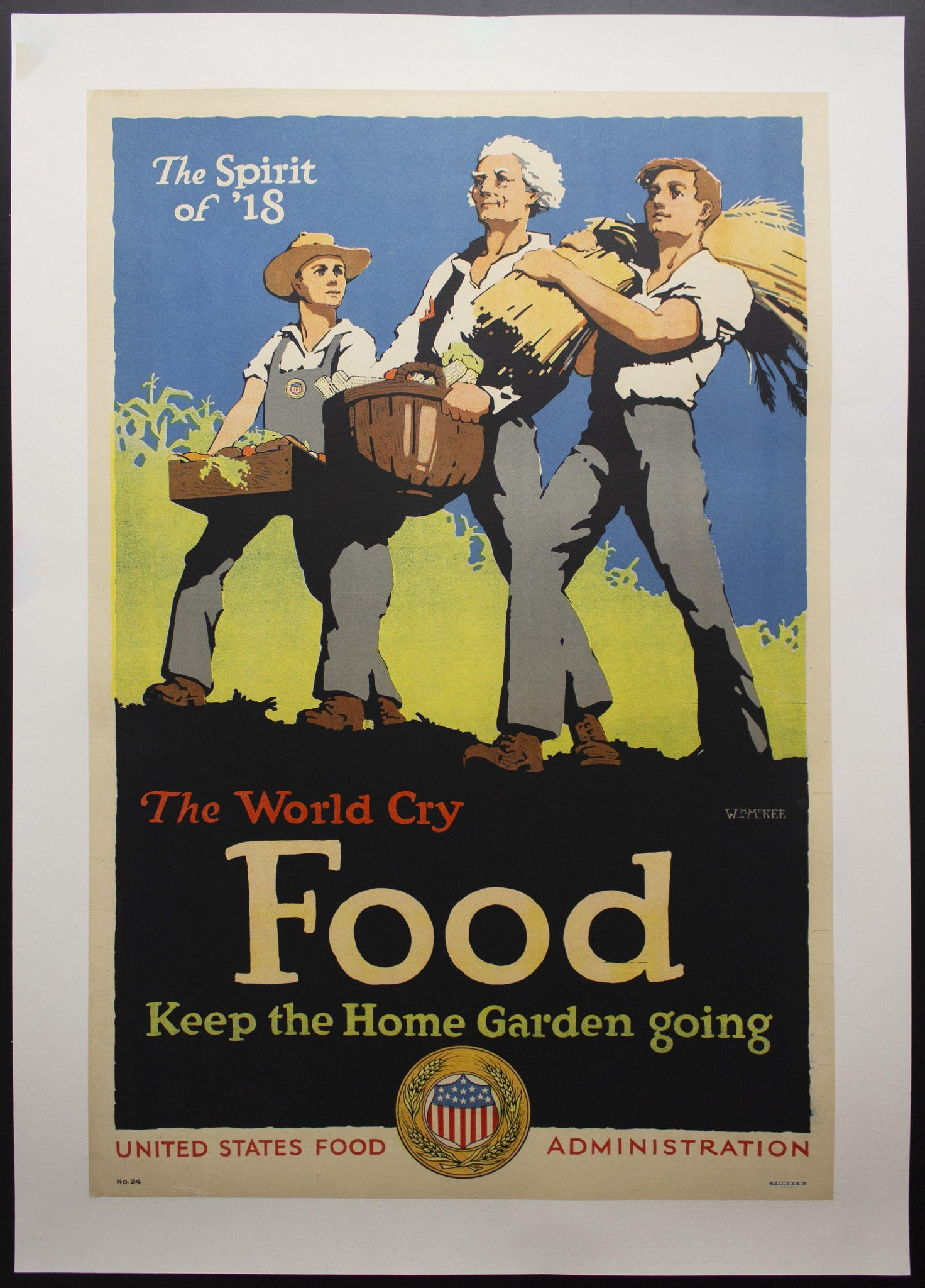 1918 United States Food Administration World Cry Food by William McKee WWI - Golden Age Posters
