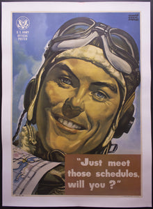 1944 Just Meet Those Schedules Will You by Harry Morse Meyers WWII US Army Air Force