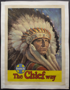 c.1950 The Chief Way Atchison Topeka & Santa Fe Railway