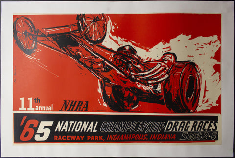 1965 NHRA National Championship Drag Races by Earl Newman Indianapolis