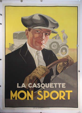 c. 1925 La Casquette Mon Sport by Atelier Artists - Golden Age Posters