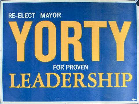 1965 Re-elect Mayor Yorty For Proven Leadership