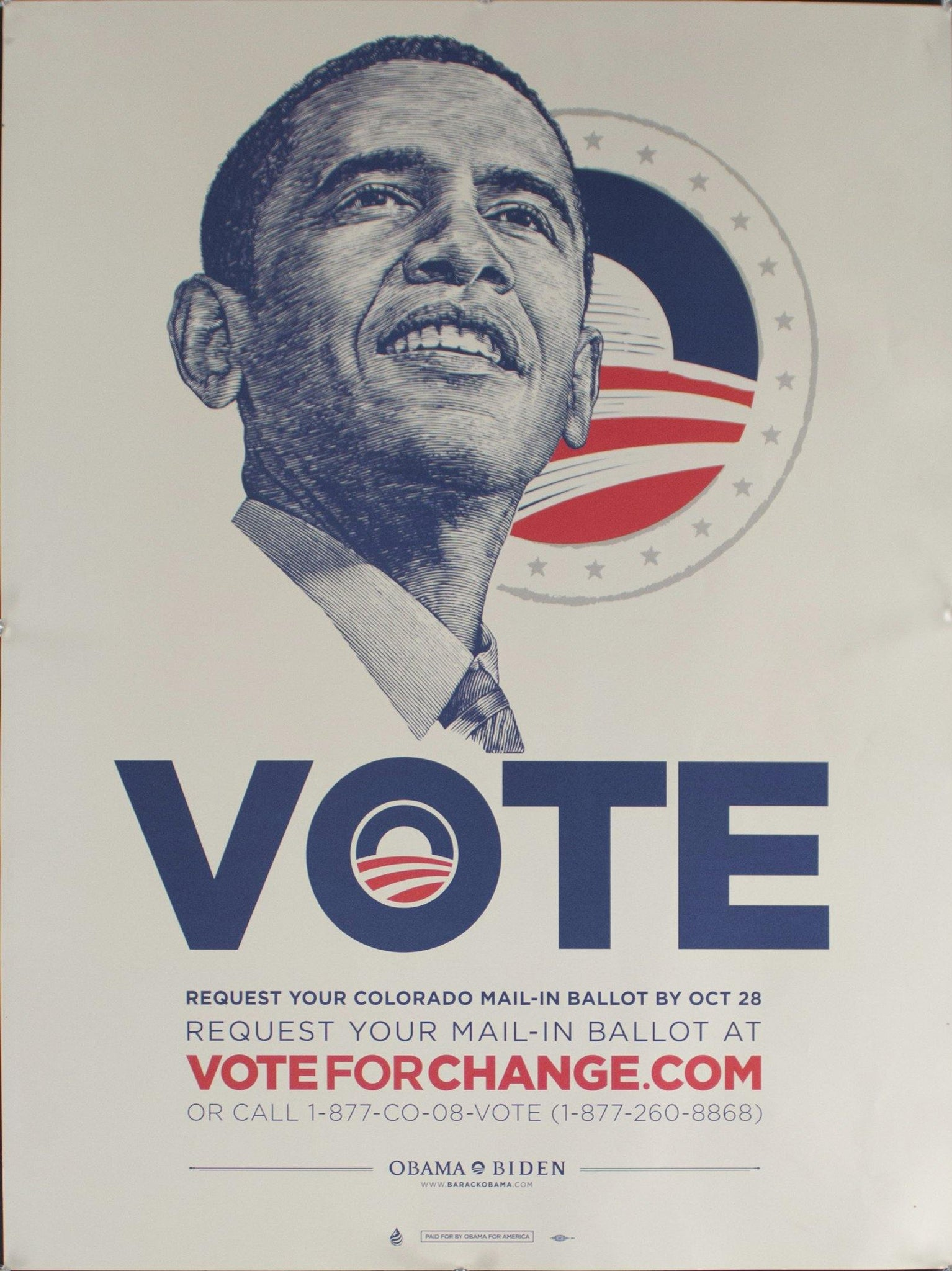 2008 Vote Obama-Biden | Request Your Colorado Mail-in Ballot by Oct 28 | voteforchange.com