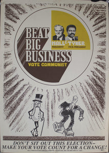 1976 Beat Big Business | Vote Communist | Hall & Tyner | Andrew's Daily World