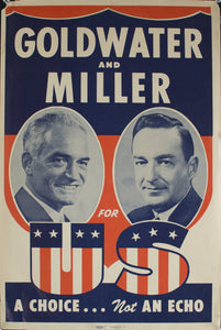 1968 Goldwater and Miller for US | A Choice…Not an Echo