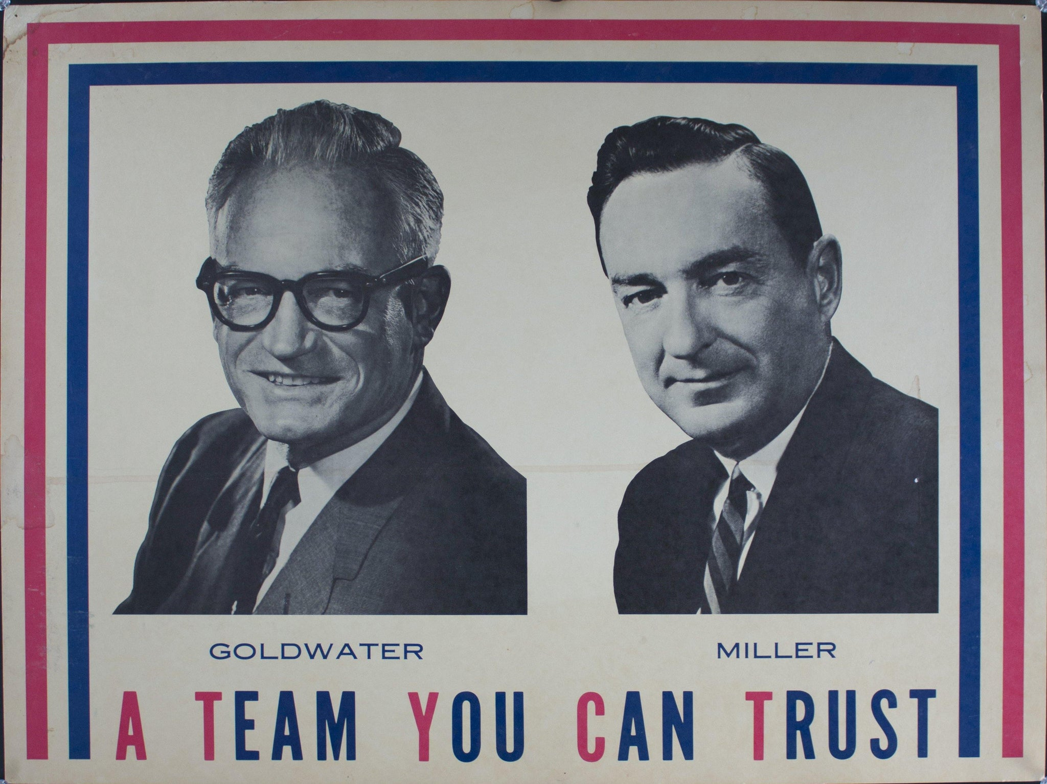1968 Goldwater | Miller | A Team You Can Trust - Golden Age Posters