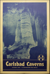c.1930s Santa Fe Railway Carlsbad Caverns National Park…In Southeastern New Mexico