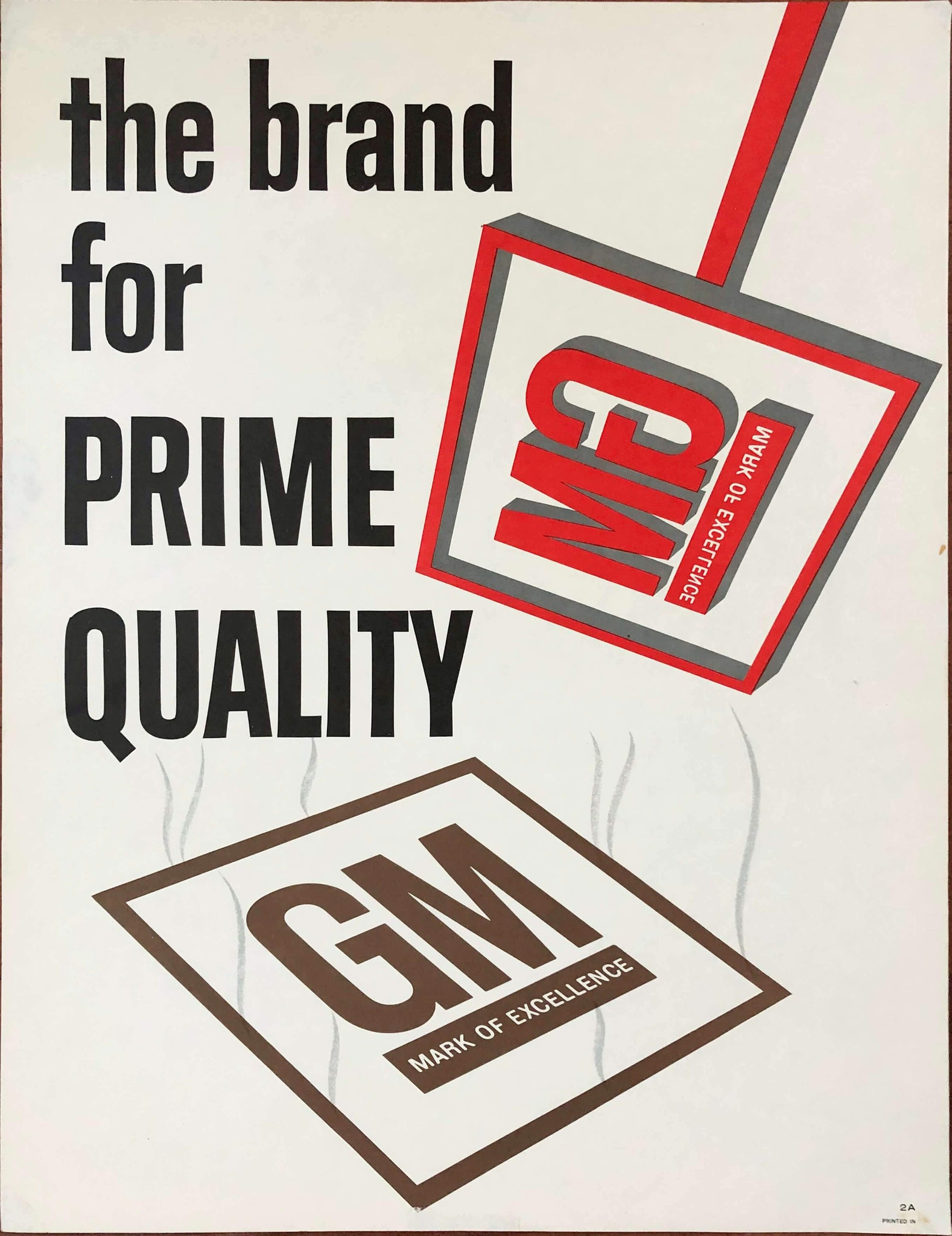 c. 1962 The Brand For Prime Quality | GM Mark of Excellence - Golden Age Posters